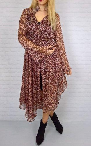 Zwiewna Sukienka Boho Bordo By o la la