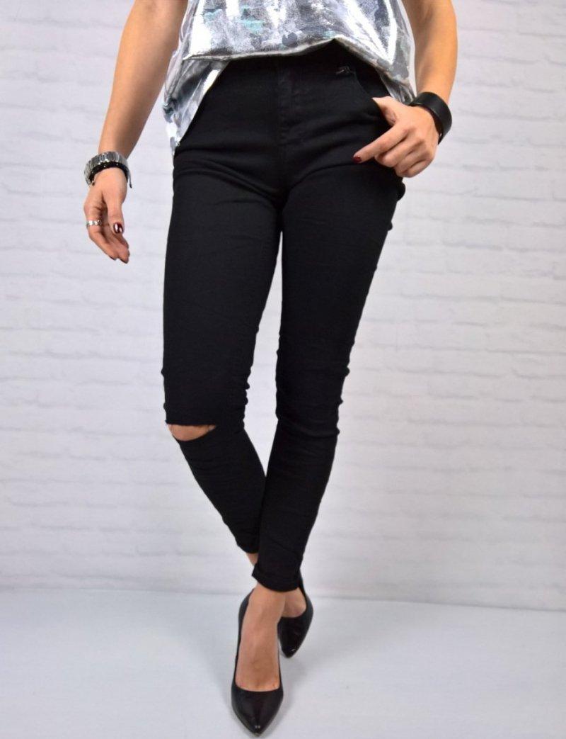 Rewelacyjne Czarne Spodnie Dziury