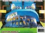 Pościel 3D Koloseum Cotton World 160x200 100% mikrowłókno. Pościel z Miastem - Rzym