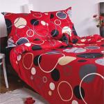 Ekskluzywna pościel satynowa Andropol 200x220 cm 100% bawełna wz. 17 805/2 . Czerwona w Grochy 200x220