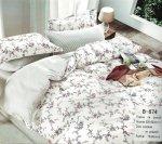 Pościel Mengtianzi Biała w Kwiaty 200x220 100% bawełna B-674