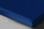 Atramentowe prześcieradło Jersey z gumką 140x200 Oritex 100% bawełna
