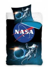 Pościel młodzieżowa NASA - Kosmonauta - Kosmos 160x200 Carbotex 100% bawełna wz NASA195004