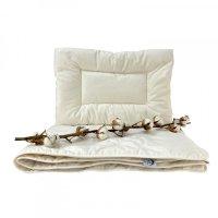 Kołderka ekologiczna dla dzieci 100x135 + poduszka 40x60 BIO ecotton Poldaun
