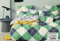 Pościel Collection World 140x200 Kolorowa w Kratkę 100% bawełna wz 1413