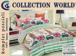 Pościel Collection World 160x200 dla dzieci -  Kolorowa z Samochodami - 100% bawełna wz 566