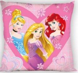 Dwustronna poszewka Księżniczki Disney Różowa 40x40 cm Faro 100% poliester