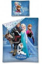 Pościel Kraina Lodu Niebieska dla dziewczynki Anna i Stella 160x200 cm Detexpol 100% bawełna Frozen