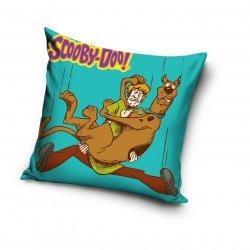Poszewka Scooby-Doo 40x40 cm Carbotex 100% bawełna. Poszewka dla dzieci Scooby - Doo - Niebieska