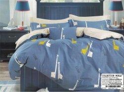 Pościel Collection World 160x200 Stalowo - Niebieska w Żyrafy   100% bawełna wz 1101