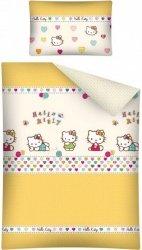 Pościel dla dzieci  100x135 Hello Kitty Żółta 100% bawełna Detexpol HK 14
