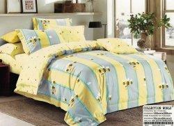 Pościel Collection World 160x200 dla dzieci -Szara - Żółta z Pszczółkami - 100% bawełna wz 919