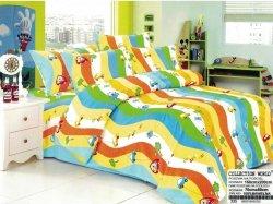 Pościel Collection World 160x200 dla dzieci - Niebieska - Kolorowa z Samochodami - 100% bawełna wz 335
