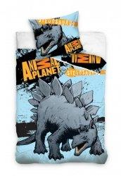 Pościel Dinozaur 160x200 Stegozaur 100% bawełna Carbotex AP 8104