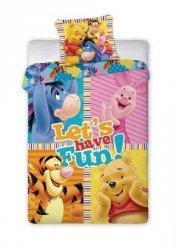 Kolorowa Pościel dla dzieci Kubuś Puchatek i Przyjaciele Disney 160x200 Faro 100% bawełna