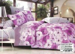 Pościel Collection World 160x200 Fioletowa w Kwiaty 100% bawełna. Pościel 160x200 w Kwiaty wz 375