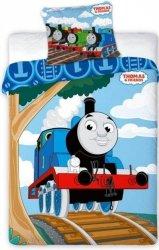 Pościel dla dzieci Disney 100x135 Tomek i Przyjaciele. Niebieska pościel dla chłopca 100x135 - Tomek 024