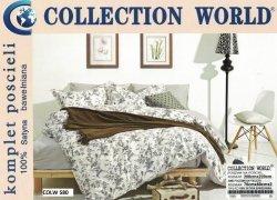 Pościel Collection World 200x220 Kremowa w Kwiaty 100% bawełna wz 580