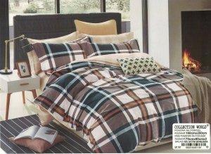 Pościel Collection World 160x200 Kolorowa w Kratkę 100% bawełna wz 1161
