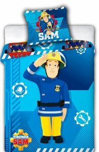 Pościel dla dzieci Disney 100x135 Strażak Sam 100% bawełna Faro Strażak 041