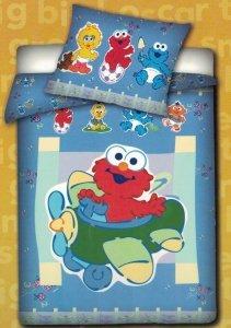 Pościel dla dzieci Disney 100x135 Ulica Sezamkowa Elmo 100% bawełna Carbotex SS 004