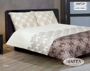 Pościel satynowa Matex Exclusive 200x220 cm Ecru - Brąz 100% bawełna wz SE 24B