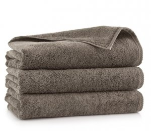 Ręcznik kąpielowy Zwoltex 70x140 KIWI 2 - Taupe - Bawełna Egipska.