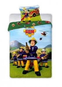 Pościel dla dzieci Strażak Sam 160x200 Faro 100% bawełna Różnokolorowa
