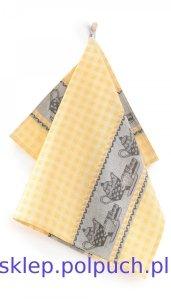Ściereczka kuchenna Zwoltex Czapla - Podwieczorek Żółta - 50x70 cm 100% bawełna