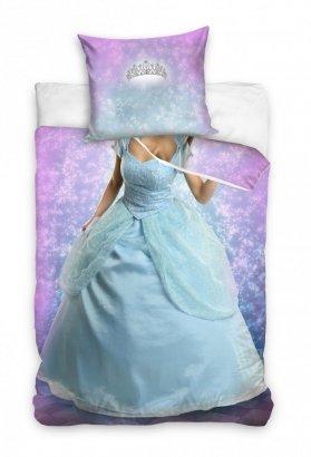 Pościel młodzieżowa 3D dla dziewczynki - Księżniczka 160x200 Carbotex Kolorowa 100% bawełna NL183008