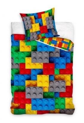 Pościel młodzieżowa Klocki 140x200 Carbotex 100% bawełna wz NL201074
