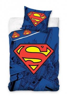 Pościel bawełniana Superman w rozmiarze 160 x 200 cm firmy Carbotex
