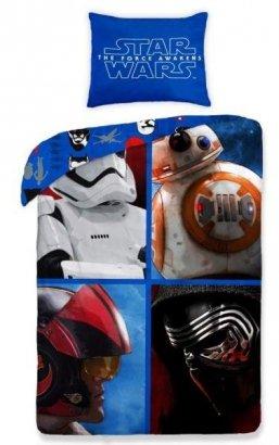 Pościel Star Wars Gwiezdne Wojny 160x200. Dwustronny komplet pościeli Star Wars 160x200 Halantex 100% bawełna wz 595