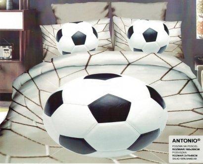 Pościel 3D Piłka Nożna Stadion 160x200 . Satnyna Bawełniana Milano wz. PN 22