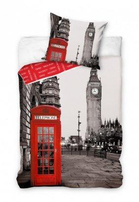 Pościel młodzieżowa 3D 140x200 Londyn - Big Ben - Carbotex 100% bawełna London