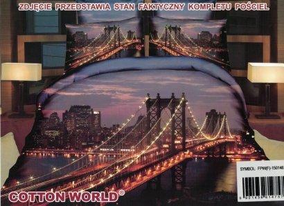 Pościel 3D Brooklyn Bridge Cotton World 160x200 100% mikrowłókno. Pościel z Miastem - Nowy Jork