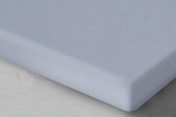 Prześcieradło Jersey z gumką Szare 140x200 cm Oritex 100% bawełna