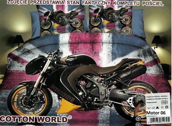 Pościel 3D Motor 160x200. Pościel 3D z mikrowłókna 160x200 motocykl