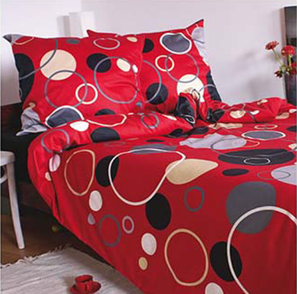 Czerwona satynowa pościel Andropol 200x220 wz 17 805/2 100% bawełna
