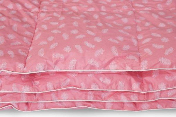 Kołdra z piór dartych ręcznie 160x200 Różowa