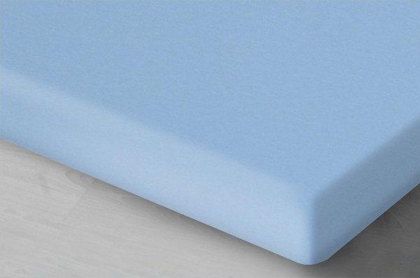 Błękitne prześcieradło Jersey 160x200 Oritex