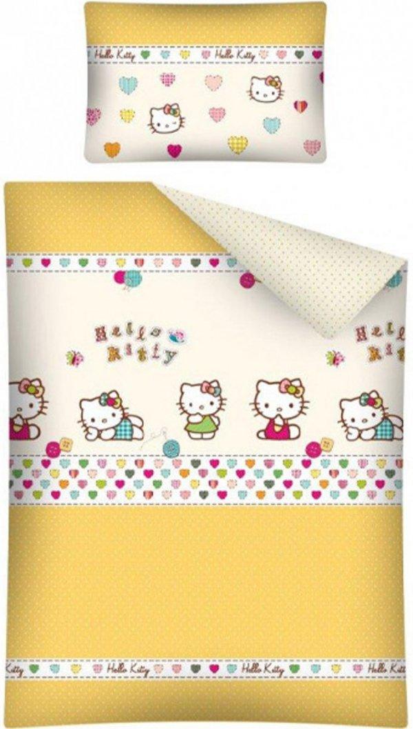 Pościel Hello Kitty 100x135 Detexpol 100% bawełna HK 14