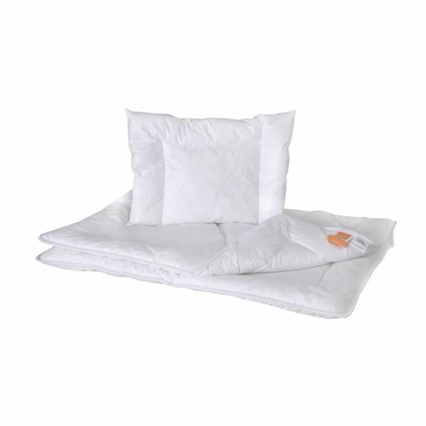 Antyalergiczna kołderka z poduszką dla dzieci i niemowląt 100x135 + 40x60 Hollofill Allerban Poldaun