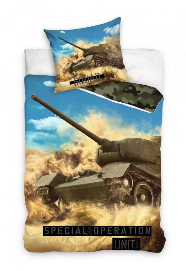 Pościel wojskowa - czołg T-34-85 160x200.