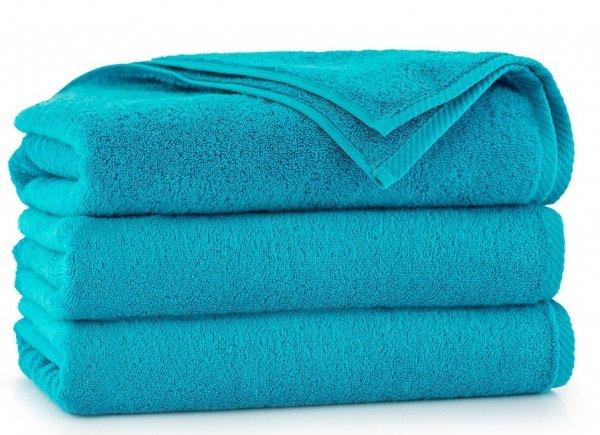 Ręcznik kąpielowy Zwoltex 70x140 KIWI 2 - Turkus - Bawełna Egipska.