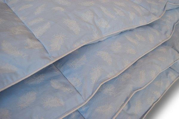 Poduszki z półpuchu 50x60 cm Niebieskie w białe piórka