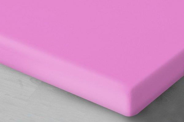 Różowe prześcieradło z gumką 200x220 cm Oritex 100% bawełna