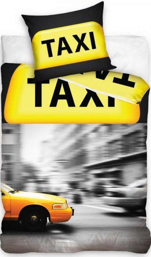 Pościel młodzieżowa 3D 140x200 Taxi New York Carbotex 100% bawełna