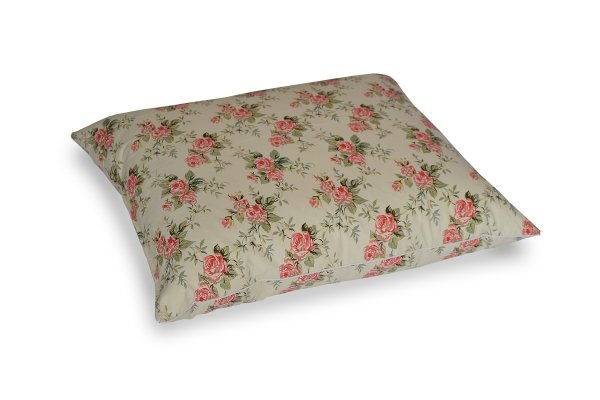 Poduszka z półpuchu 70x80 Ecru w różyczki