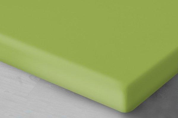 Pastelowo zielone prześcieradło Jersey 140x200 Oritex